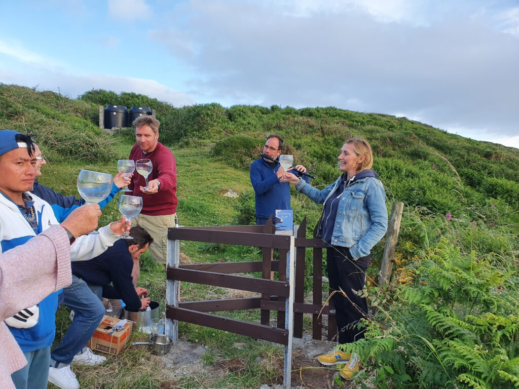 Celebrating the launch of the Kissing Gate on Cape Clear Island with Author Ann Griffin.