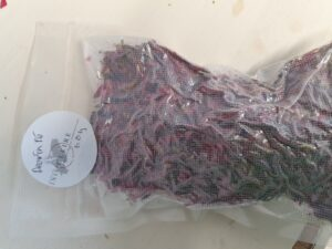 Dried and packed fuschia for Cape Clear Island Gin