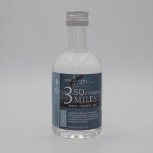 3 SQ. MILES – Irish Island Gin Mini (100ml)